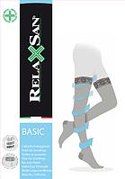 Компрессионные чулки на резинке Relaxsan BASIC 140 den (1 класс комрессии) Art. 870