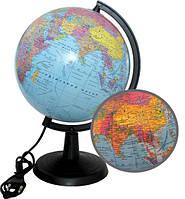 Глобус 220 мм политический c подсветкой