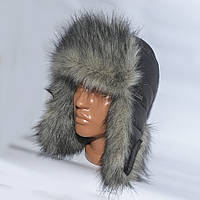 Теплая детская шапка-ушанка на зиму из искуственного меха - модель 114-3