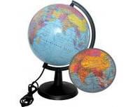 Глобус 22см политический с подсветкой 928845