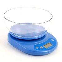 Кухонные весы электронные с чашей из прочного пластика до 5 кг.
