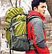 Треккинговый практичный рюкзак 45+5 л. KingCamp Peak (KB3250) Green зеленый, фото 4