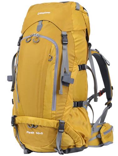Треккинговый  объемистый  рюкзак 50+5 л. KingCamp Peak (KB3249) Yellow желтый