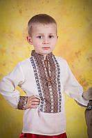 Детская вышитая сорочка для мальчика, размер 28