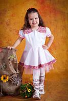 Вышитое детское платье, размер 40
