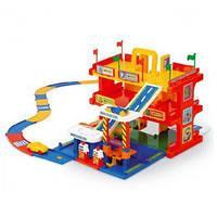 Игровой набор Wader - Детский гараж 3 уровня с дорогой 3 м