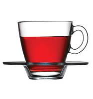 Набор чашек для чая с блюдцем (6 шт.) 225 мл Aqua 95040