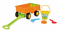 Игровой набор: Детская тележка - прицеп с набором для песка Wader