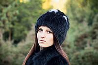 Модная женская зимняя шапка мех кролика