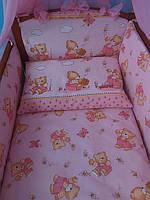 """Постель детская для девочки ТМ«ASIK» ( 8 единиц) №84 """"мишка с гошочком мёда"""""""