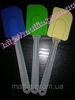 Лопатка силиконовая белая ручка