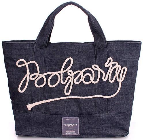 Стильная джинсовая сумка POOLPARTY poolparty-sailor-jeans синяя