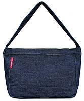 Женская компактная джинсовая сумка POOLPARTY pool8-jeans синяя