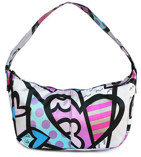 Женская сумка в яркий принт POOLPARTY poolparty-purse-5-blossom сиреневая