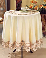 Скатерть круглая белая Kayaoglu 160 Q Gloria