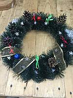 Рождественский венок 45 с натуральными шишками