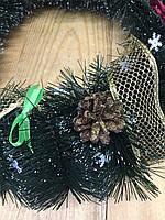 Рождественский веночек 45 с натуральными шишками