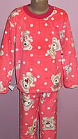 Пижама махровая детская для девочек