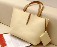 Стильная  Модная повседневная женская сумка, бежевая