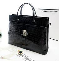 Стильная  деловая  повседневная женская сумка, черная