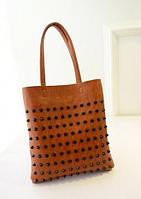 Стильная Модная женская сумка с шипами,светло-коричневая, повседневная