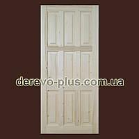 Двери из массива дерева 90см (глухие) f_0190