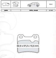 Тормозные колодки дисковые Opel Astra F / Vectra A задние