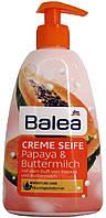 Мыло жидкое DM Bаlea Creme Seife Papaya-Buttermilch 500мл.