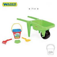 Детская тележка с набором для песка Wader