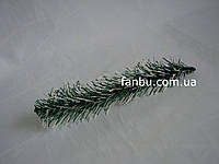 Ветка ели зеленая с белым (19-21 см)