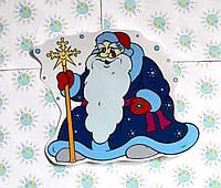 Наклейка для окон Дед Мороз