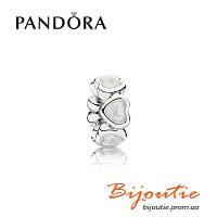 Бусина-разделитель Pandora БОГАТСТВО ЛЮБВИ 791775EN23 серебро 925 проба эмаль silver Пандора оригинал