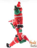 """Музыкальная подвесная игрушка на елку """"Три Санта Клауса"""""""
