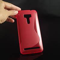 Силиконовый чехол Duotone для Asus Zenfone Selfie ZD551KL красный