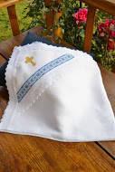 Льняная крыжма для крещения с украинским орнаментом №16