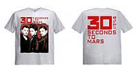 Футболка 30 Seconds To Mars серая