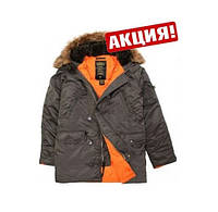 ALPHA MJN31210C1-slimf fit N-3B-GR/OR Grey/Orange Куртка
