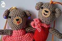 Парочка Боня + Бэба погремушки - игрушки амигуруми на зажиме тм Nashsling
