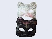 Маска кошки гипюровая для карнавала, нового года, корпоротива
