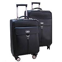 Современный чемодан на колесах двойка (Black), 510471