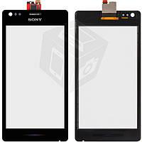 Touchscreen (сенсорный экран) для Sony Xperia M C1904/C1905, оригинал (черный)