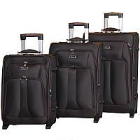 Удобный чемодан на колесах тройка (Brown), 510172