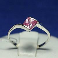 Легкое серебряное кольцо с цирконами для девушек 1035г