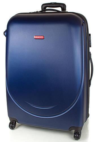 4-колесный средний пластиковый чемодан 59,5 л. GRAVITT (ГРАВИТ) DS310M-6 темно синий