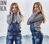Комбез женский джинсовый