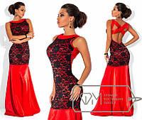 Вечернее платье /красный+черный/