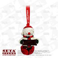 Новогодняя игрушка на ёлку Снеговик