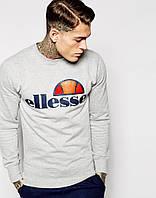 Серый свитшот с логотипом Ellesse