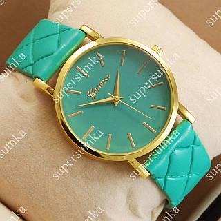 Стильные наручные часы Geneva Turquoise/Gold/Turquoise 1031