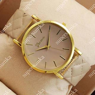 Модные наручные часы Geneva Brown/Gold/Brown 1032